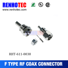 F Connector Male Crimp For RG58 Cable