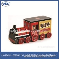 Car shape customized design cookie tin box/gift metal tinpackage