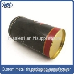 Regular round metal box