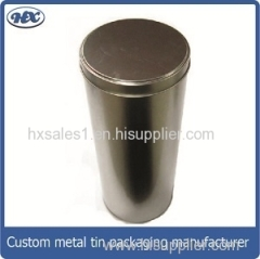 Plain silver storage tin box