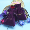 purple color drawstring jewelry gift pouch wholesale