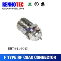 75ohm Waterproof F Male Bulkhead Connector