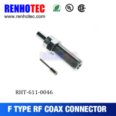 F Female Connector With RG174 Coaxial Cable