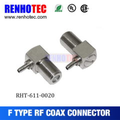 90 Degree F Jack For RG174 Connector