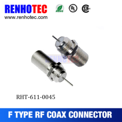 RF Crimp Type F Female Wire Connectors