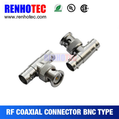BNC One Plug to Double Jack T Type Connector