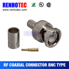 Waterproof Straight BNC Male Connector With Gold Pin