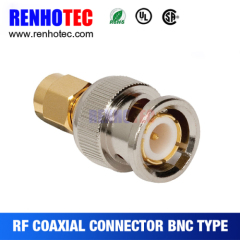 Straight BNC Male to SMA Male Connector