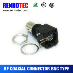 Right Angle Black Plastic BNC Jack Connector for PCB Mount