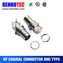 Zinc Alloy Right Angle BNC Jack Connector for PCB Mount