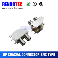 Right Angle Double BNC Jack Connector