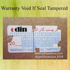 High Quality Fragile Warranty Sticker Do Not Remove Security Tamper Proof Seal Sticker With Dates And Years