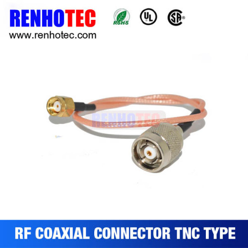 TNC Male/Plug Straight To SMA Male/Plug Straight With RG174 Cable