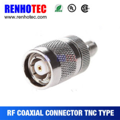 50 ohm Straight TNC Male to SMA Female Electric Connector For Antenna