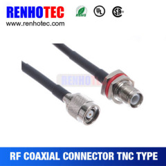 Electrical TNC Plug Cable To TNC JACK Wire Connector