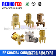 Hot selling good quality sma female straight pcb rf connector oem price