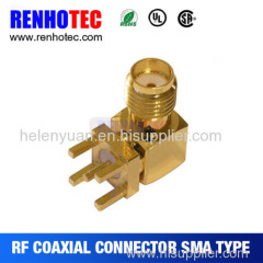 Features SMA connector is a sub-miniature coaxial l connector used in RF applications. SMA connectors are threaded for