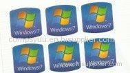 Professional 7 ultimate Windows Product Key Sticker logo screensaver