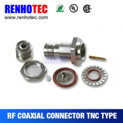 Waterproof TNC Female/Jack RF Coaxial Connector