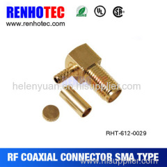 New hot factory SMA plug right angle crimp RF connector for RG174 RG178 cable