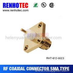 Factory Dosin SMA Female Flange Mount Panel Connector two 4 holes