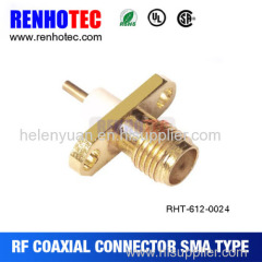 Dosin SMA female Jack Goldplated straight connector 2 hole with long dielectric solder