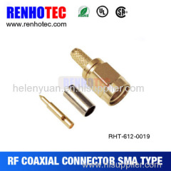 High quality facotry price rf straight crimp type sma plugs connector