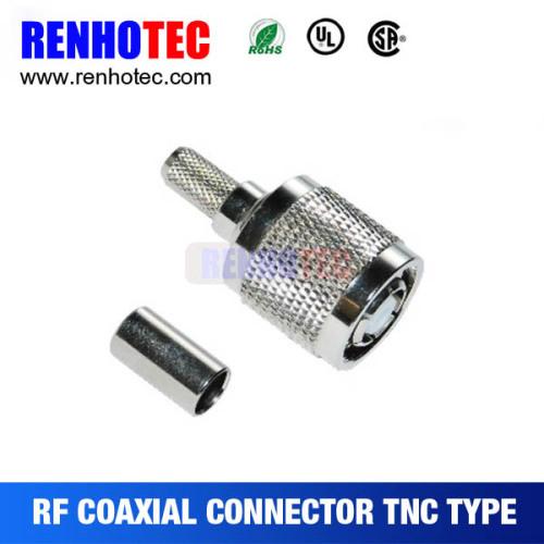 RF Connector TNC R/P Plug Crimp Cable RG58/RG174/RG179