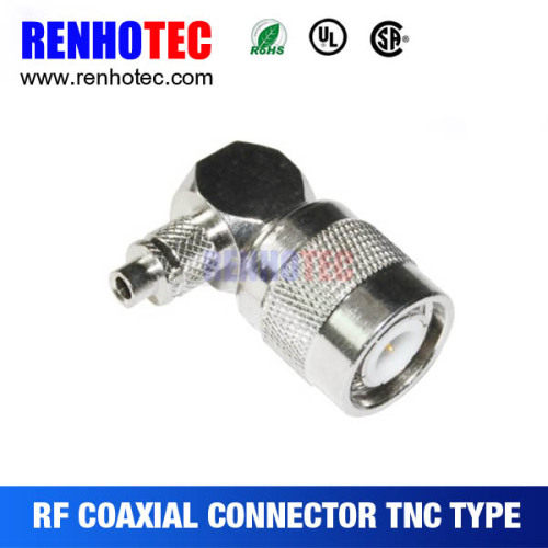 TNC Male R/A Crimp Cable rg58/rg59/rg6/rg6 Adapter Connector