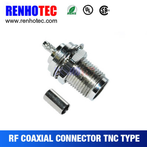 TNC Jack Bulkhead Crimp Cable RG58 RG59 RG6