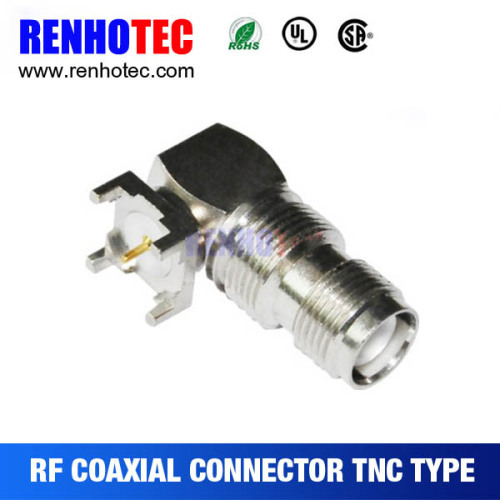 Right Angle TNC Jack Female For PCB Mount