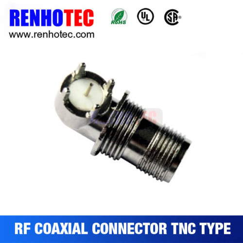 Right Angle Copper TNC Jack For PCB Connector