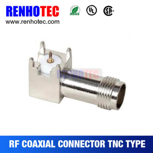 China Supplier Right Angle TNC Jack PCB Mount Connector