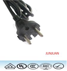 Europe VDE 2 pin plug ac power cord