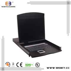"19"" 8 ports CAT5 LCD KVM Switch"