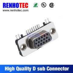 Right Angle VGA 15 Pin Female D SUB Connector