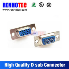 Straight VGA 15 Pin Female Male D SUB Connector