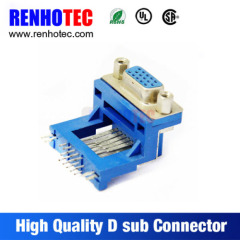Right Angle Vga 15Pin Female D SUB Connector