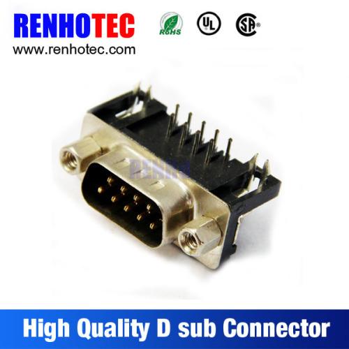 90 Degree VGA Male 9pin D SUB Connector
