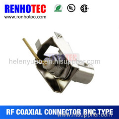 Right angle pin BNC connector brass