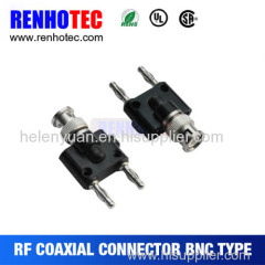 BNC female with 2*4mm Stackable Banana plug BNC adapter