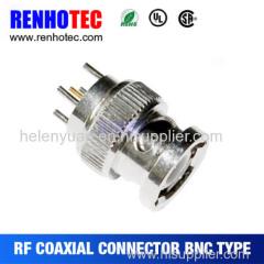 Straight 5-pin Plug BNC connector pcb Mount