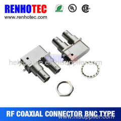 Two BNC Connector in one Row with Washer