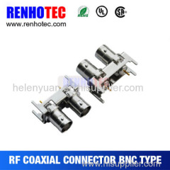 2015 hot R/A Double BNC Jack in one row for PCB Mount