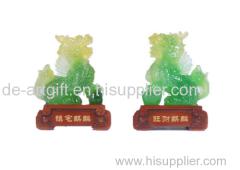 new design Chinese imitation jade resin arts and crafts figurine