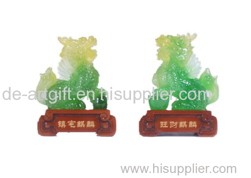 new design Chinese imitation jade resin arts and crafts figurine