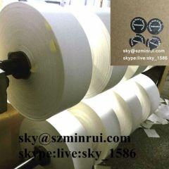destructive paper label material/destructive vinyl eggshell roll material/eggshell destuctive sticker roll