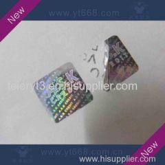 tamper evident VOID hologram sticker