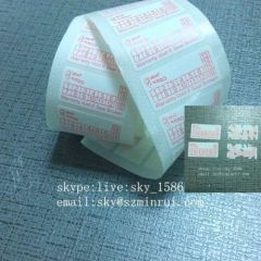 Date Printing Brittle Destructible Tamper Proof Stickers Red Rectangle Security Seals Labels
