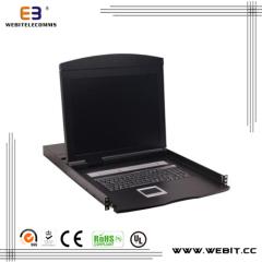 8 port LCD VGA KVM console